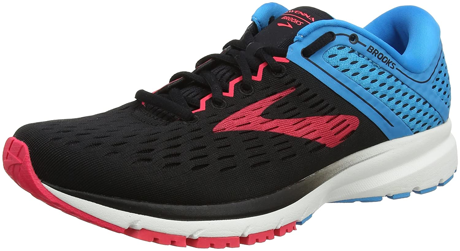 Brooks Womens Ravenna 9 B071NSQ8K6 10.5 B(M) US|Black/Blue/Pink