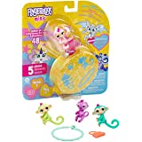 WowWee Fingerlings Minis - Series 2 - 5 Piece Blister - 3 Figures Plus Bonus Bracelet & Charm, Multicolor