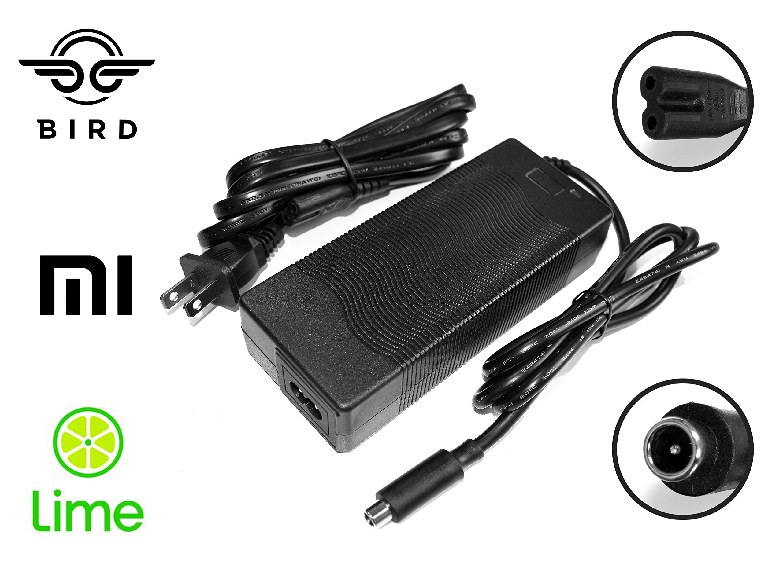ACI Super Power Lithium Ion Battery Charger for Bird, Lime, Jump, Spin, Lyft, and Xiaomi Mijia Electric Scooters by ACI Super Power
