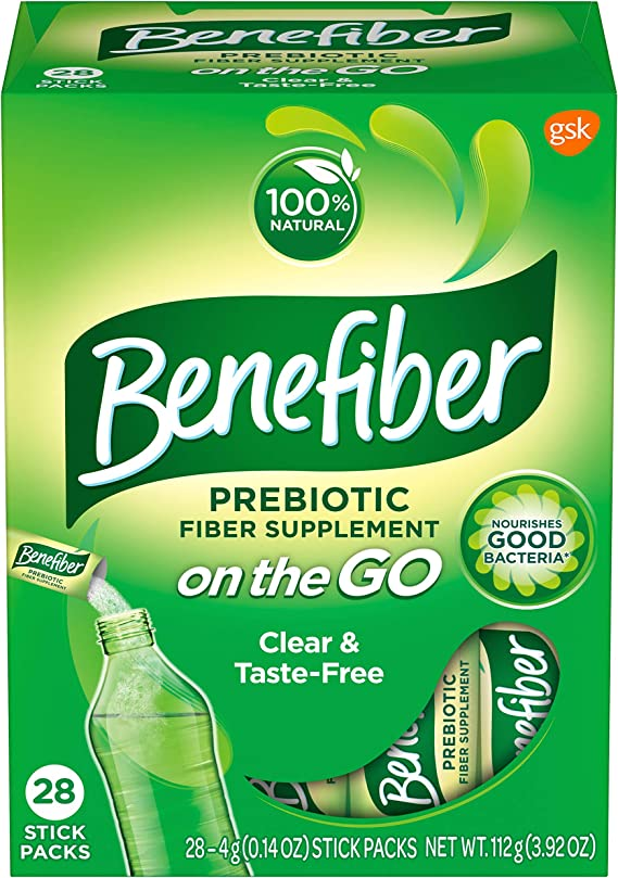 Benefiber Fiber Supplement Powder Stick Packs for Digestive Health