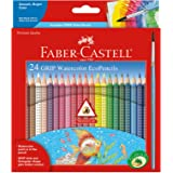 Faber-Castell - GRIP Watercolor EcoPencils - Premium Art Supplies For Kids (24 Count)