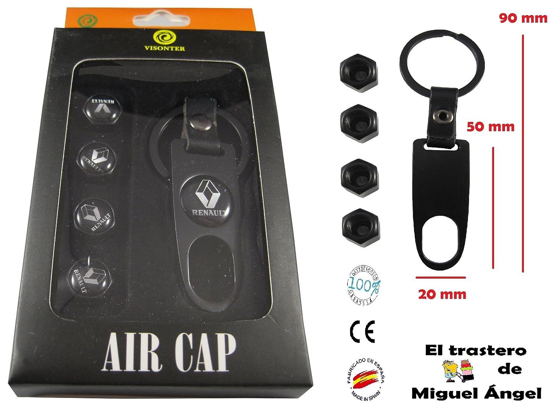 ETMA Llavero Metal y Cuero + valvulas Compatible con Renault aut012-19