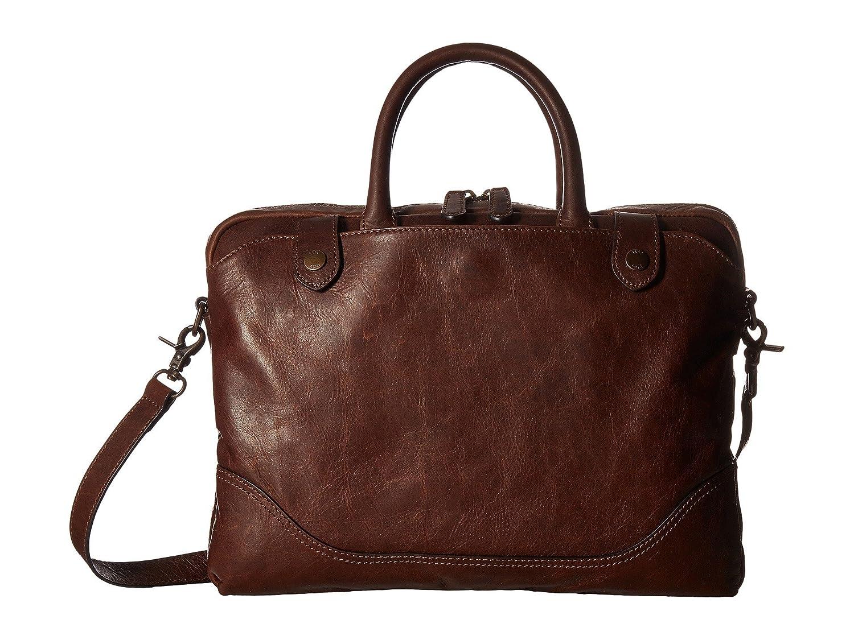 (フライ) FRYE Women`s Logan Slim Brief Bag Dark Brown Antique Pull Up 女性のローガンスリムブリーフバッグダークブラウンアンティークプルアップ(並行輸入品) One Size Dark Brown Antique Pull Up B07B7BKRD1