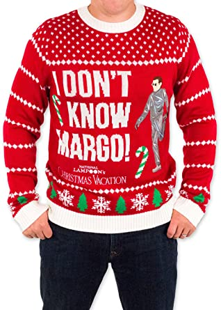 Mens 3x Ugly Christmas Sweater.Festified Men S Christmas Vacation I Don T Know Margo Ugly Sweater In Red By