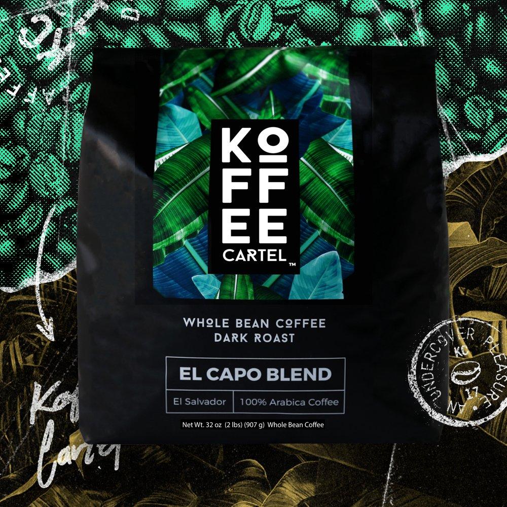 Koffee Cartel El Capo Blend Dark Roast Coffee, 2 LB Whole Bean - Premium Arabica Espresso...