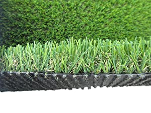 PZG Commerical Artificial Grass Patch w/ Drainage Holes & Rubber Backing | Heavy & Soft Turf | Lead-Free Fake Grass for Dogs or Outdoor Decor | Total Weight - 83 oz & Face Weight 55 oz | Size: 6' x 4'