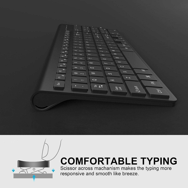 BoxWave SlimKeys Bluetooth Keyboard Portable Keyboard with Integrated Commands for Amigoo H6 Jet Black Amigoo H6 Keyboard