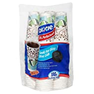 Dixie PerfecTouch Insulated Hot or Cold Cups – 100% Foam Free - Coffee Haze Design, 20 oz. (100 ct.)
