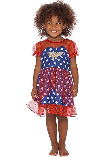 13bf0057b04ec DC Comics Girls' Wonder Woman USA Fantasy Nightgown
