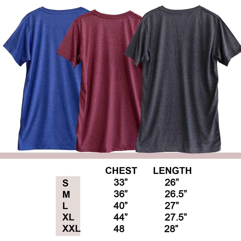 TeeMixed Women Unisex tri-Blend V-Neck Short Sleeve t-Shirt with Funny Print 9337
