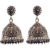 Ganapathy Gems Metal Jhumki Earring For Women (Black)