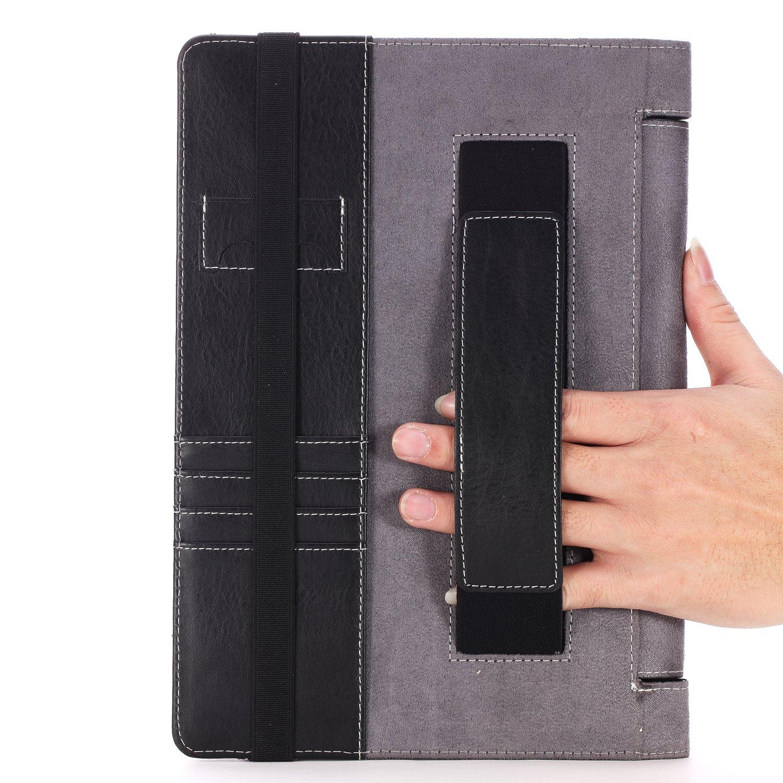 Lenovo Yoga 10 Case - Poetic Lenovo Yoga 10 Case [SlimBook Series] - [SlimFit] [Professional] PU Leather Slim Folio Case for Lenovo Yoga 10 Black (3 ...