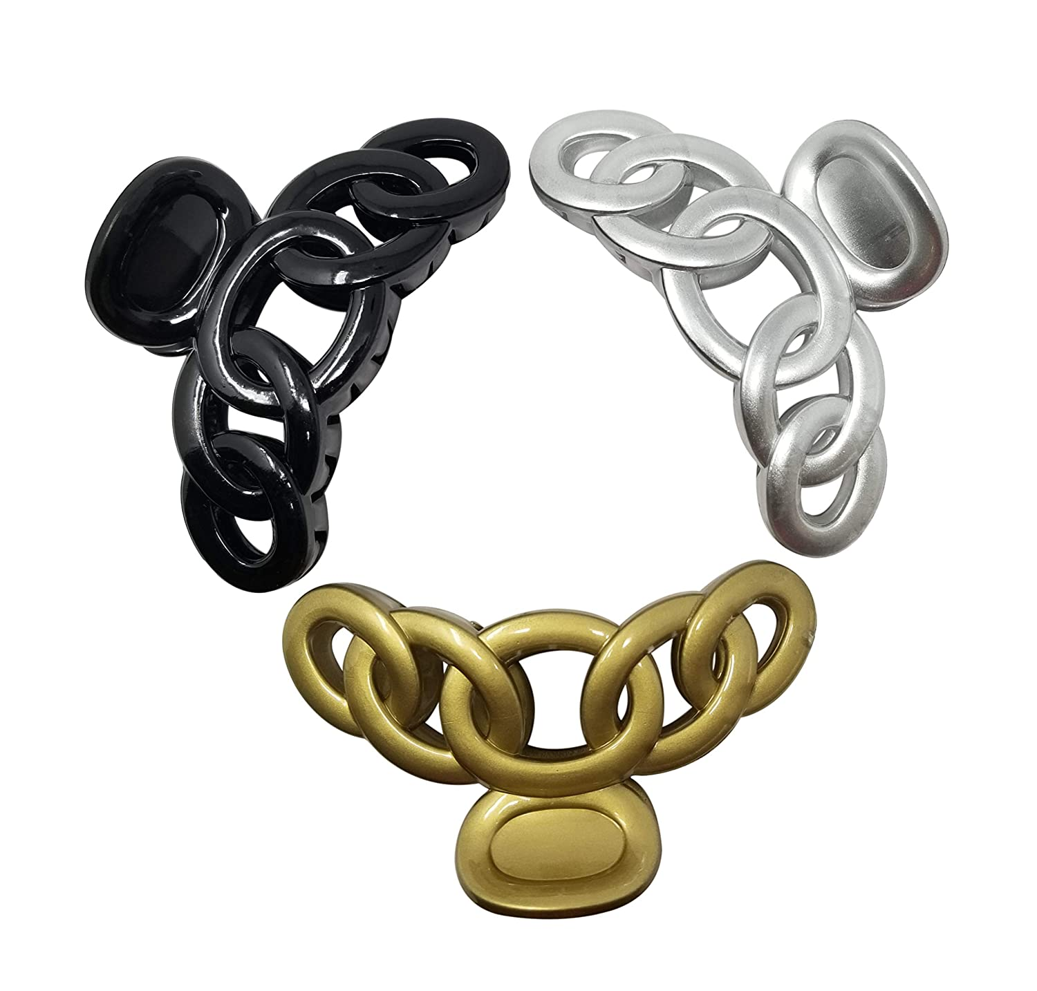 Evogirl Claw Clip Big Butterfly Rings Shape Cluther N Sip Grip Black, Silver, Golden, Xlarge, For Women/Girls Reasonable Brands