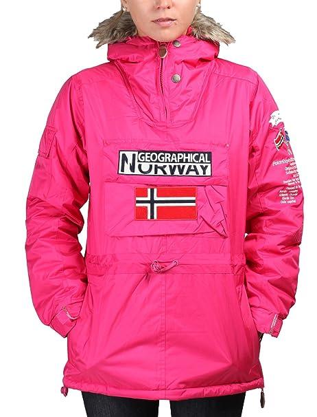 GEOGRAPHICAL NORWAY chaqueta mujer Building rosa - mujer - S: Amazon.es: Ropa y accesorios