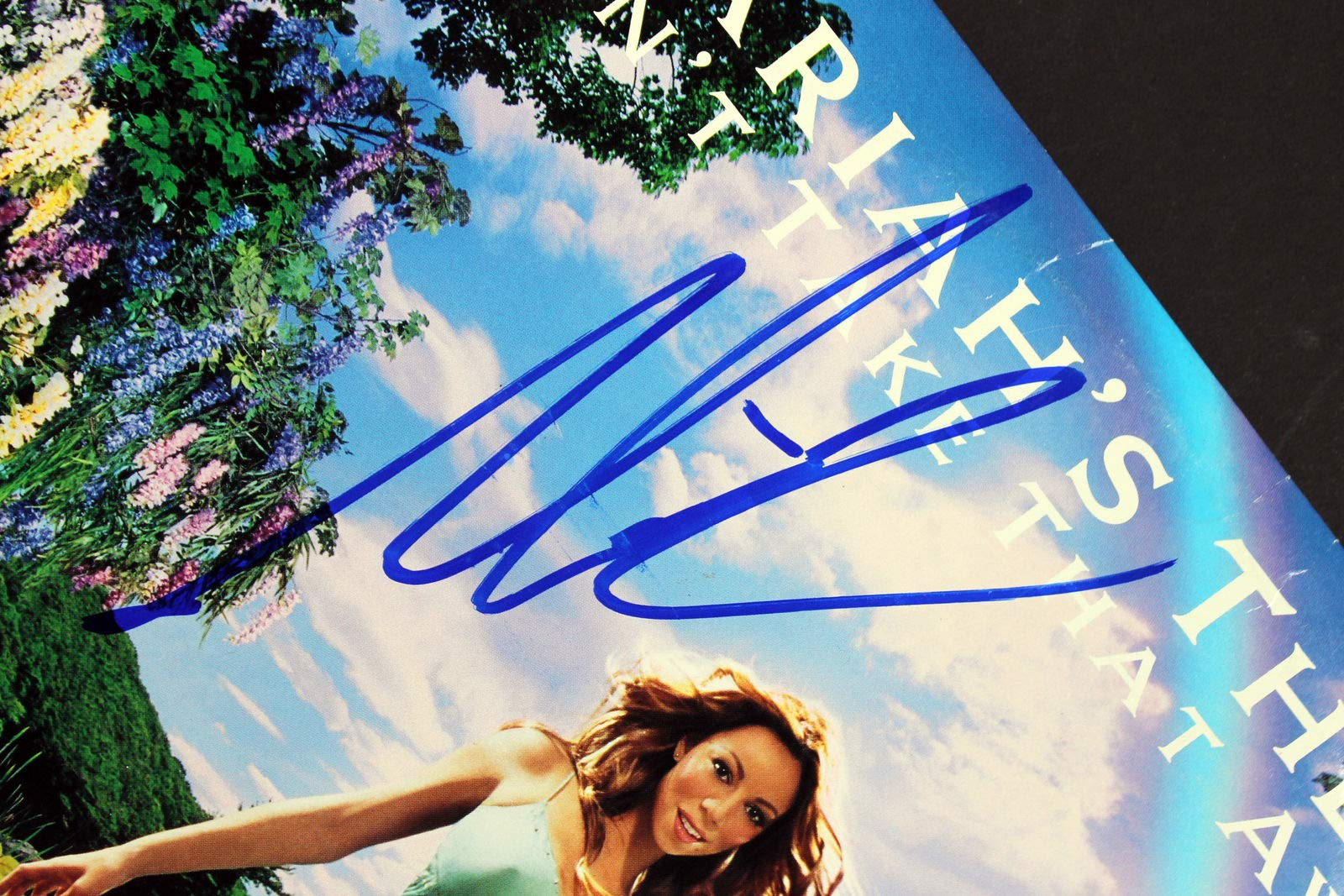 Mariah Carey Autographed Signed Mariah's Theme Can'T Take That Away Album Cover Beckett Authentic