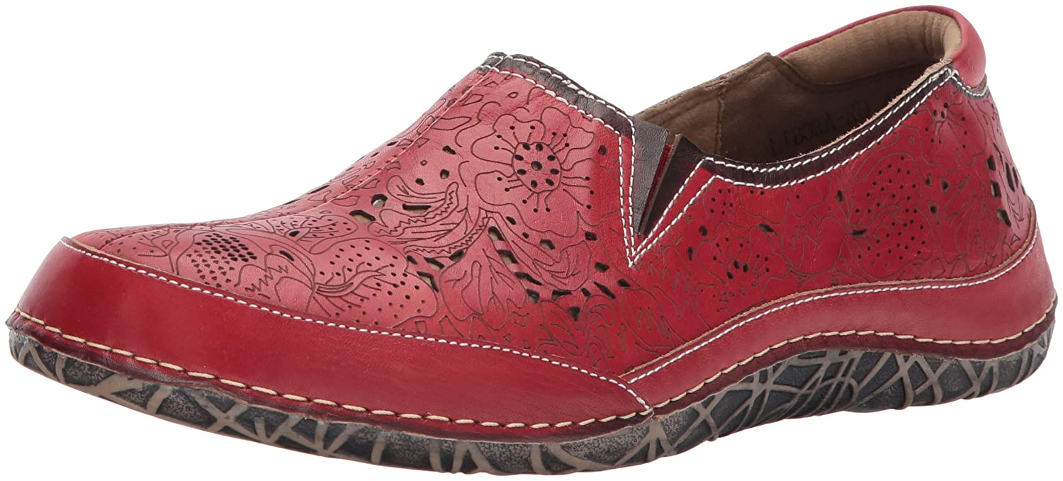 L'Artiste by Spring Step Women's Libora Flat B0711L5Q8T 41 EU/9.5 - 10 M US|Red