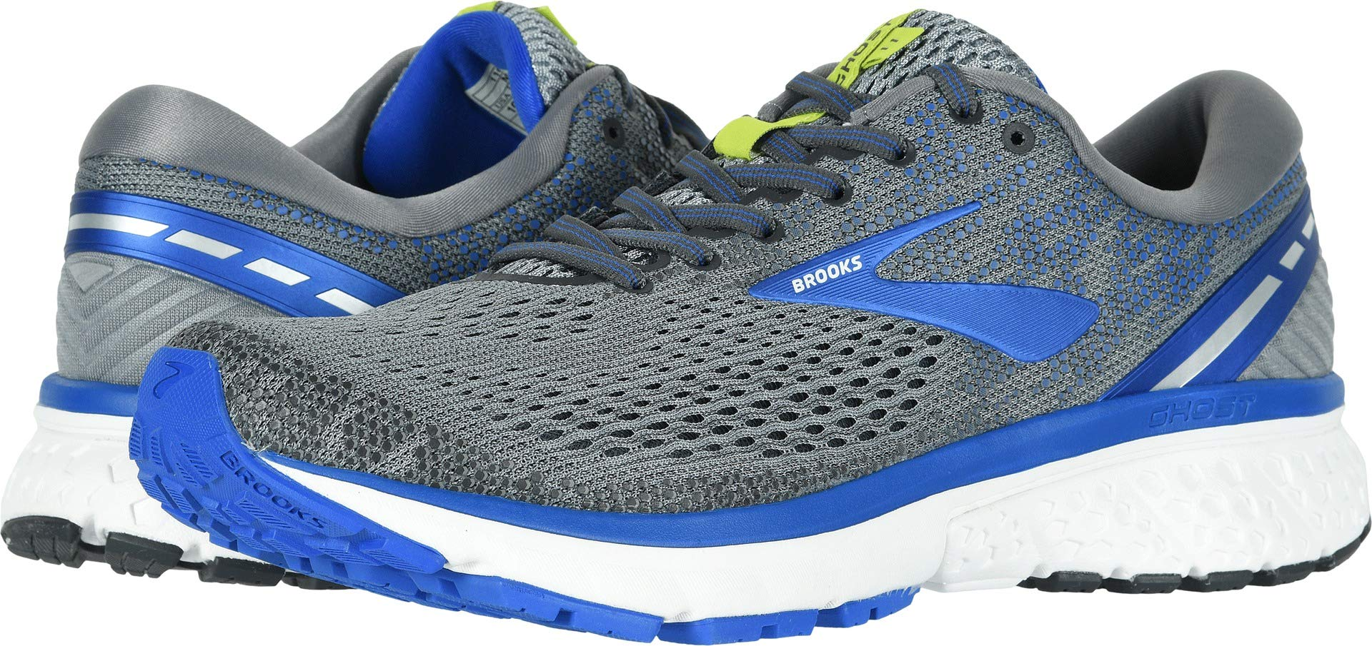 Brooks Men's Ghost 11 Grey/Blue/Silver 7 D US by Brooks (Image #1)