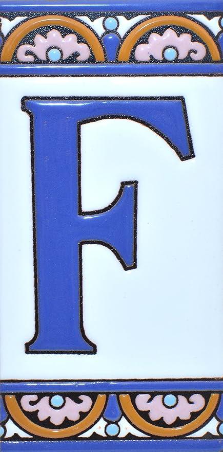 Ecriteaux Avec Numeros Et Lettres Carreaux De Ceramique Polychromee Peints A La Main Dans Technique Corde Seche Cuerda Seca Pour Plaques Avec