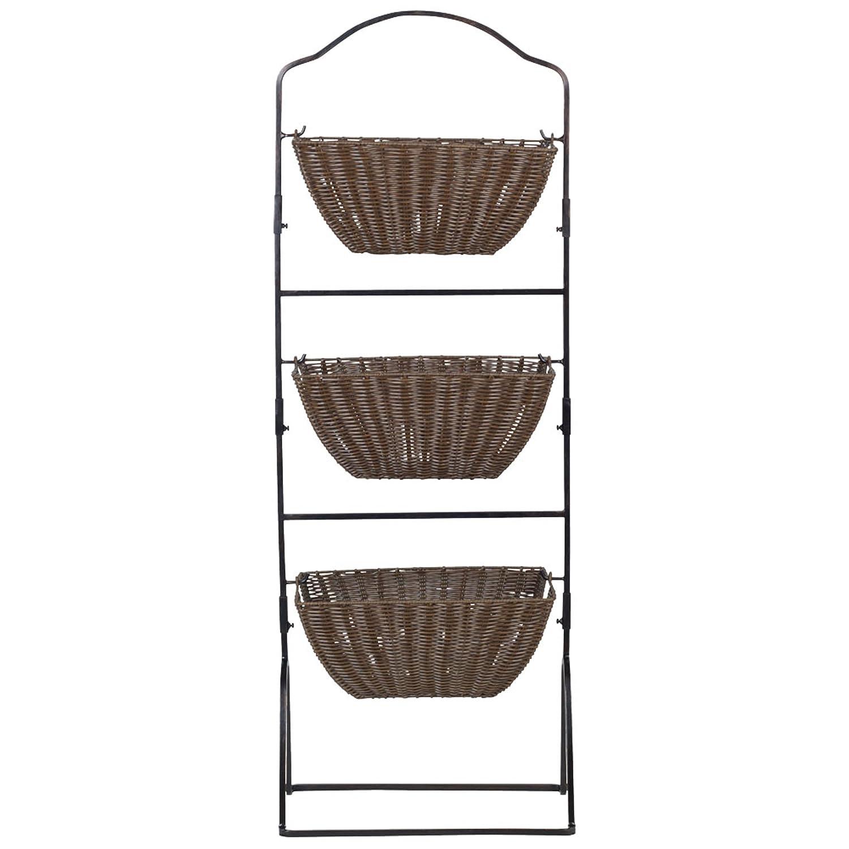 Amazoncom Gourmet Basics By Mikasa 5228926 Brinley 3 Tier Floor Standing