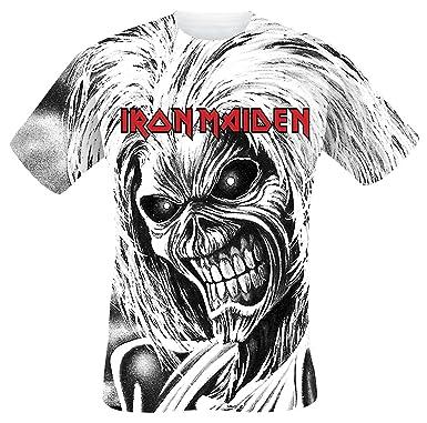 Iron Maiden Killers Allover Camiseta Blanco XXL