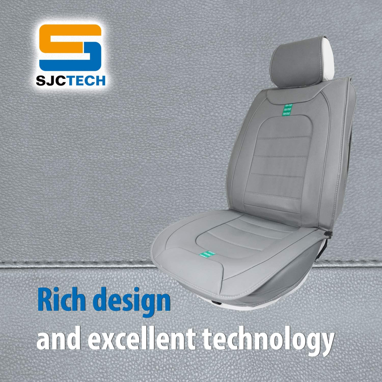 SJC Car Seat Cushion Pad Car Driver Seat Cushion Car Interior Seat Cover Cushion Pad Mat Comfort Seat Protector for Car Office Home Use SJC219R033-US