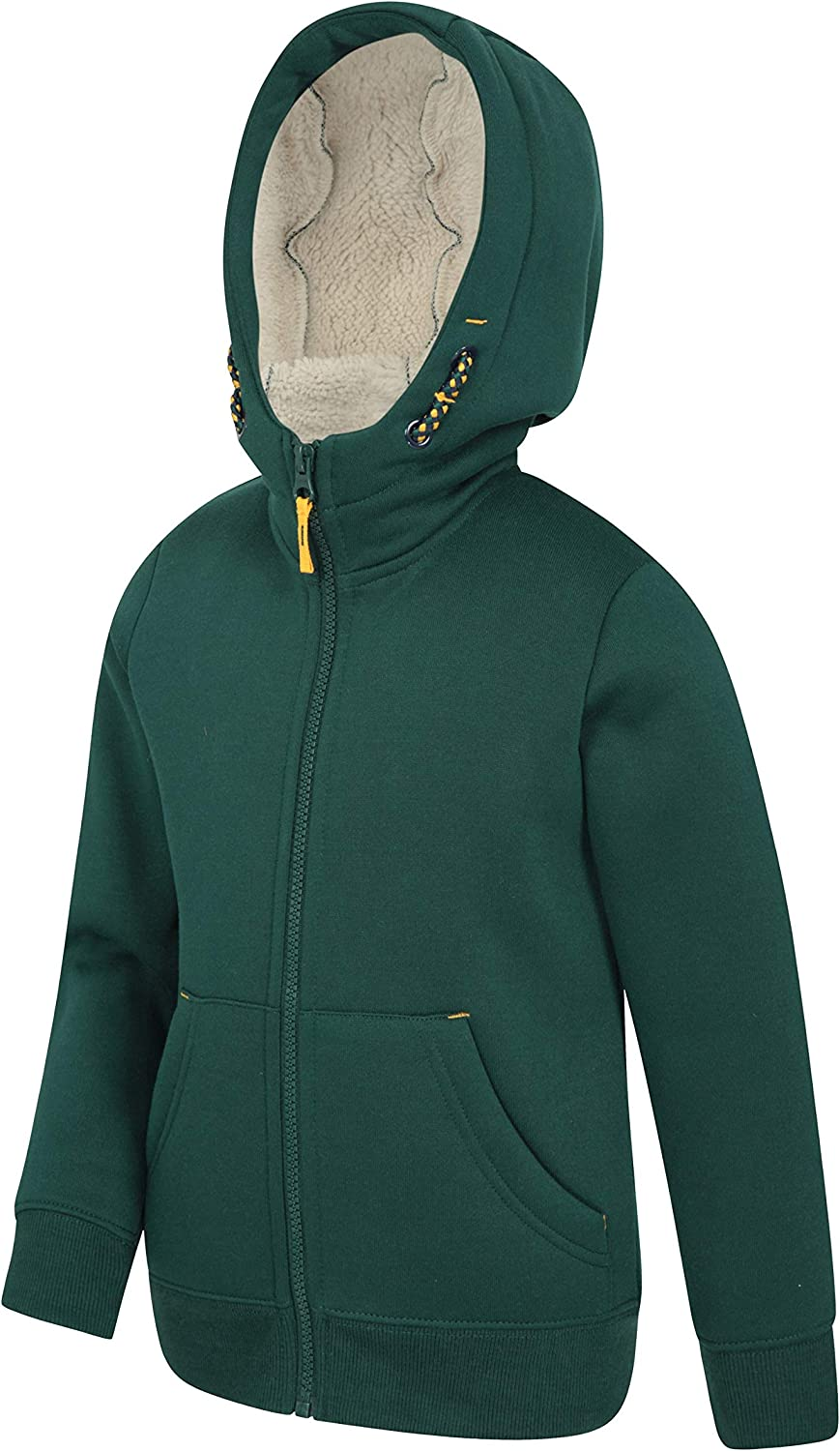 Great for Everyday Wear /& Camping Trips Full-Zip /& Front Pockets Sherpa Fleece Lining with Isotherm Fabric Mountain Warehouse Nordic Fur Lined Full Zip Hoody