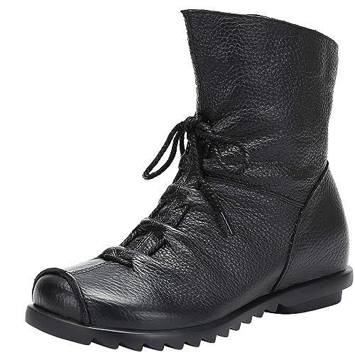 a05f9f0a222 Saguaro Invierno Mujer Botas de Nieve Cuero Calientes Fur Botines  Plataforma Bota Boots Ocasional Impermeable Anti Deslizante Zapatos:  Amazon.es: Zapatos y ...