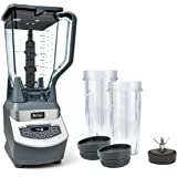 Ninja Professional Countertop Blender with 1100-Watt Base, 72 Oz Total Crushing Pitcher and (2) 16 Oz Cups for Frozen Drinks