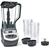 Ninja Professional Countertop Blender with 1100-Watt Base, 72 Oz Total Crushing Pitcher and (2) 16 Oz Cups for Frozen…