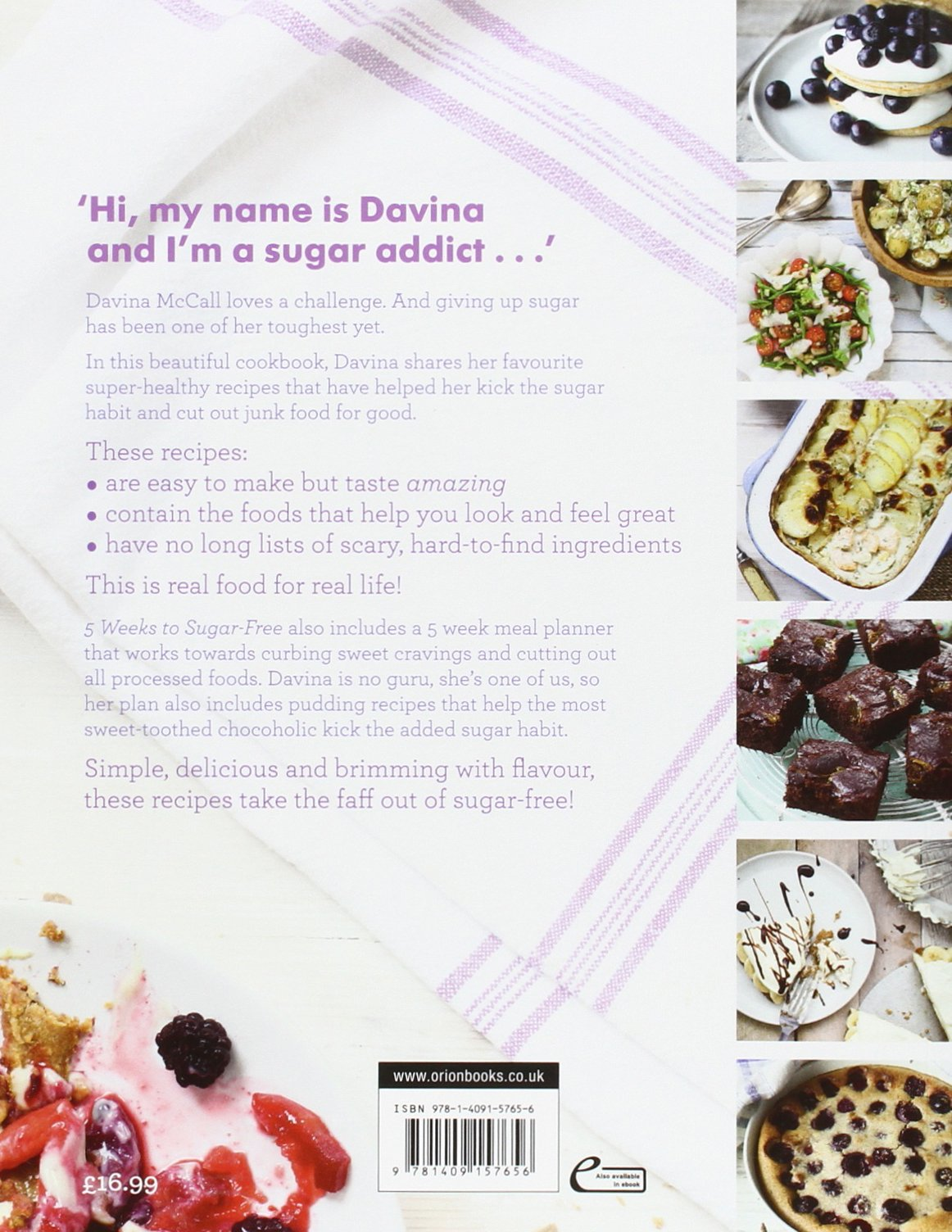 Davinas 5 weeks to sugar free yummy easy recipes to help you davinas 5 weeks to sugar free yummy easy recipes to help you kick sugar and feel amazing amazon davina mccall 9781409157656 books forumfinder Images