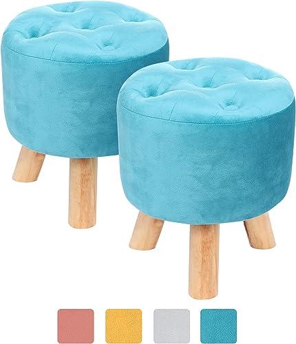 Muoldjin Velvet Padded Soft Footrest Stool
