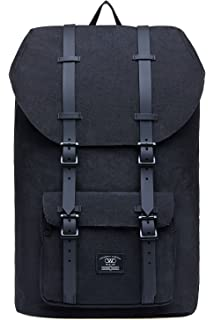 3d67a92246 KAUKKO Laptop Rucksack für 17 Zoll Damen Herren Backpack Lässiger  Schulrucksack Daypacks Stylish Rucksäcke Für Wanderreise