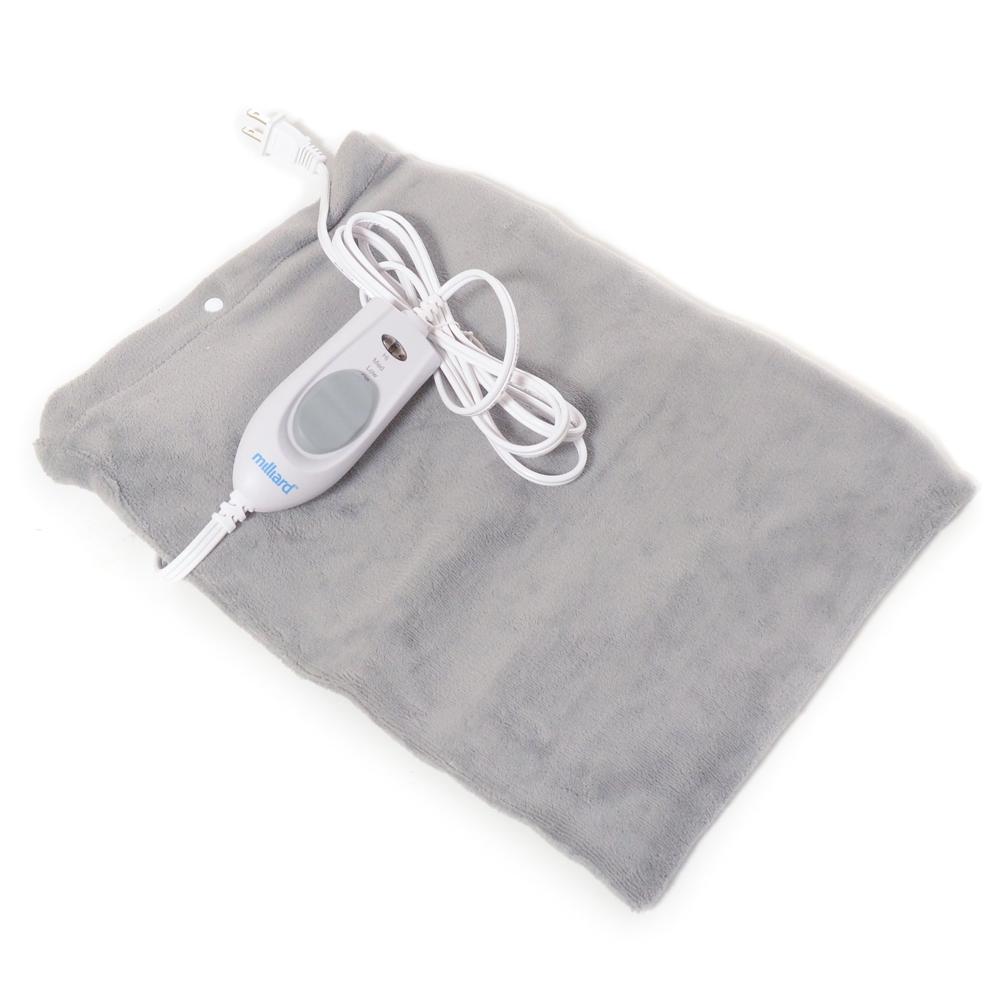 Milliard Electric Therapy Heating Pad for Fast Pain Relief - Gray - 15in x 12in by Milliard