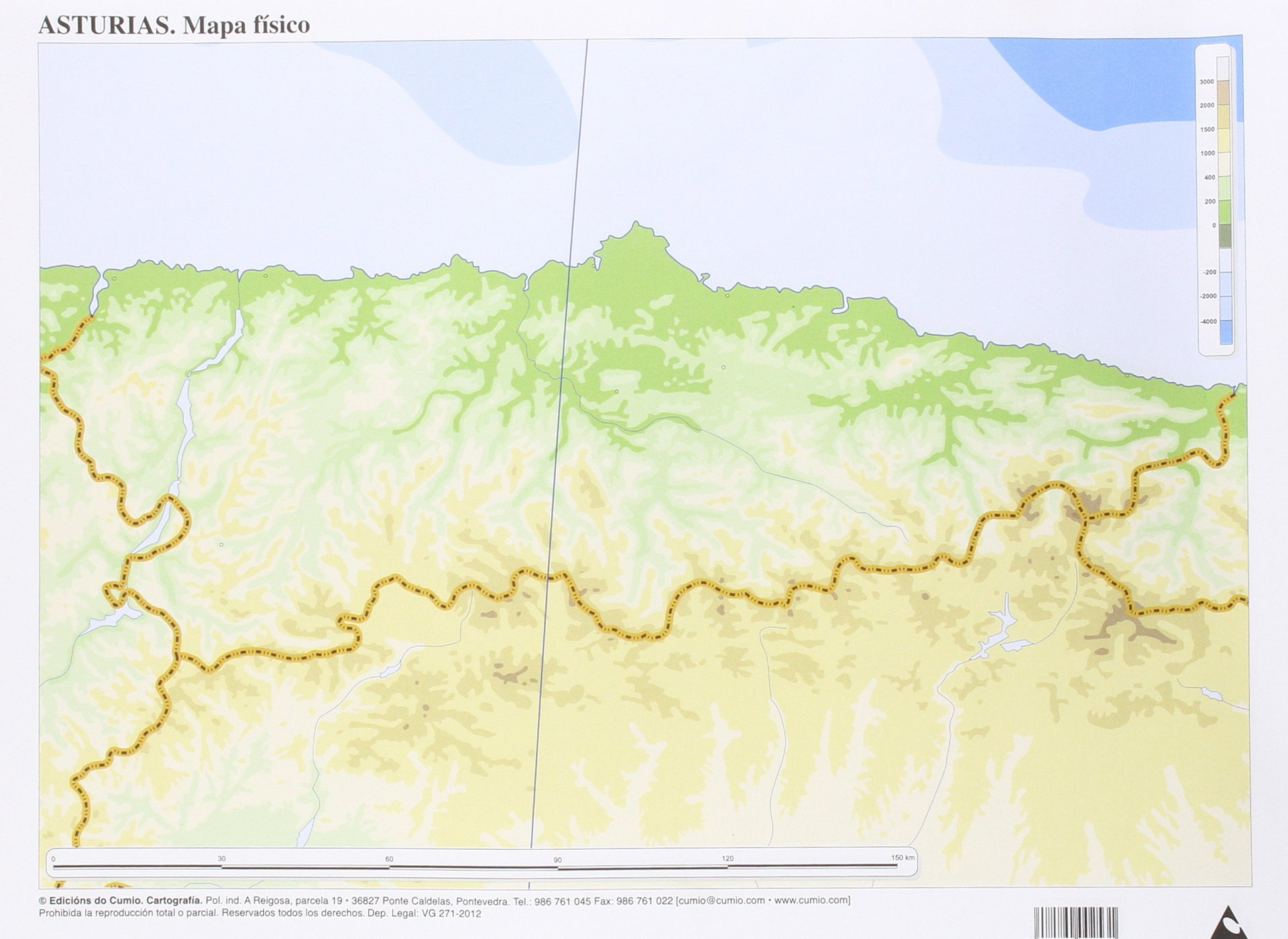 Mapa físico Asturias (Mapas mudos) 50 unidades: Amazon.es ...