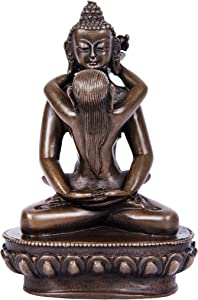 Toperkin Yab-Yum Bronze Buddha Statue Buddhist Sculpture Decoration TPFX-022
