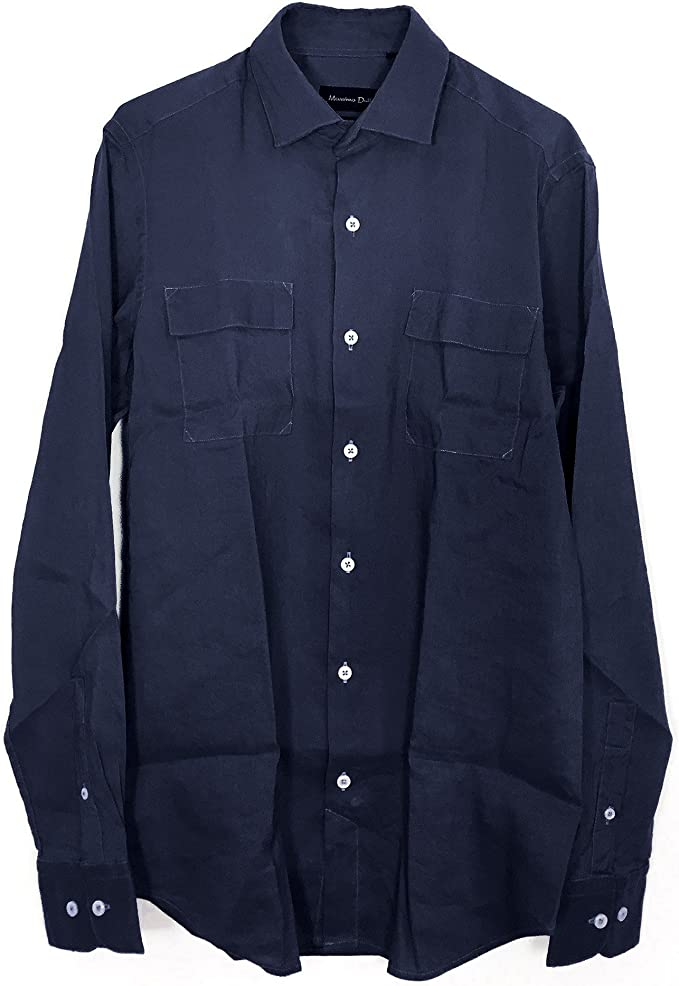 MASSIMO DUTTI - Camisa casual - para hombre Azul azul Small ...