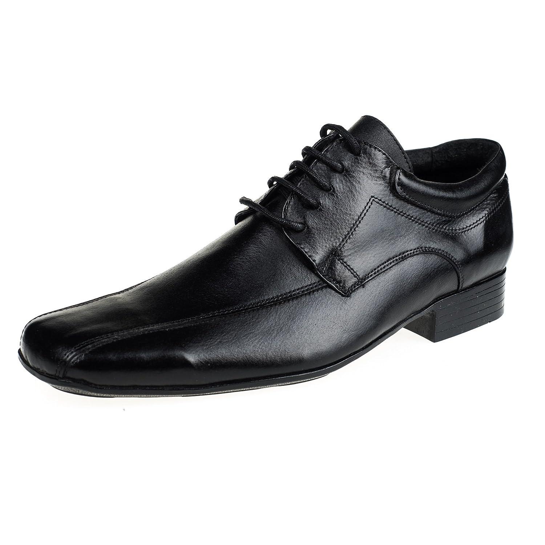 TALLA 40 EU. KS® - 129 - Zapatos de Vestir para Hombre - Cuero - Negro