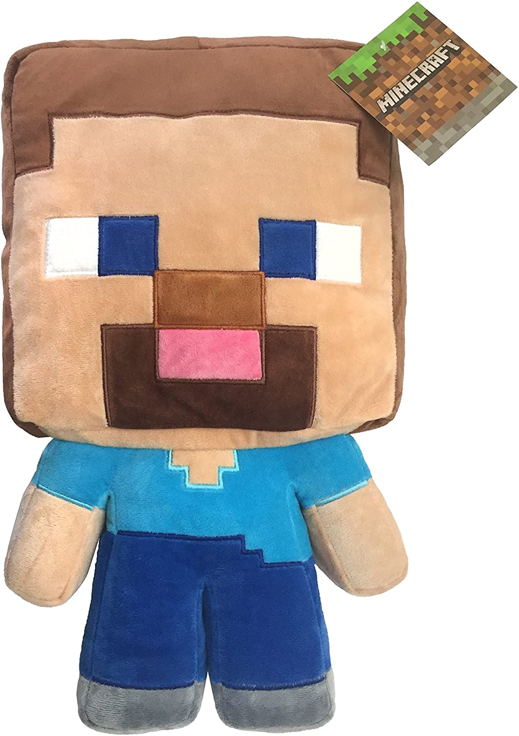 Amazon Com Jay Franco Mojang Minecraft Steve Plush Pillow Buddy