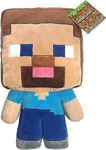 "Jay Franco Mojang Minecraft Steve Plush 16"" Pillow Buddy"