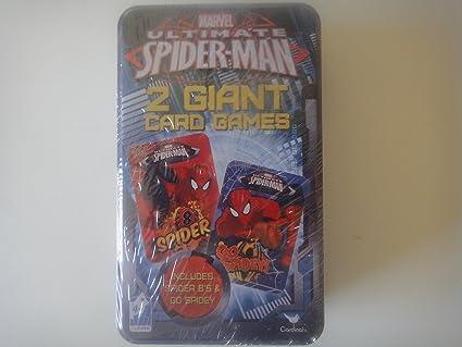 Amazon.com: Marvel Spider-Man 2 juegos de cartas gigantes en ...