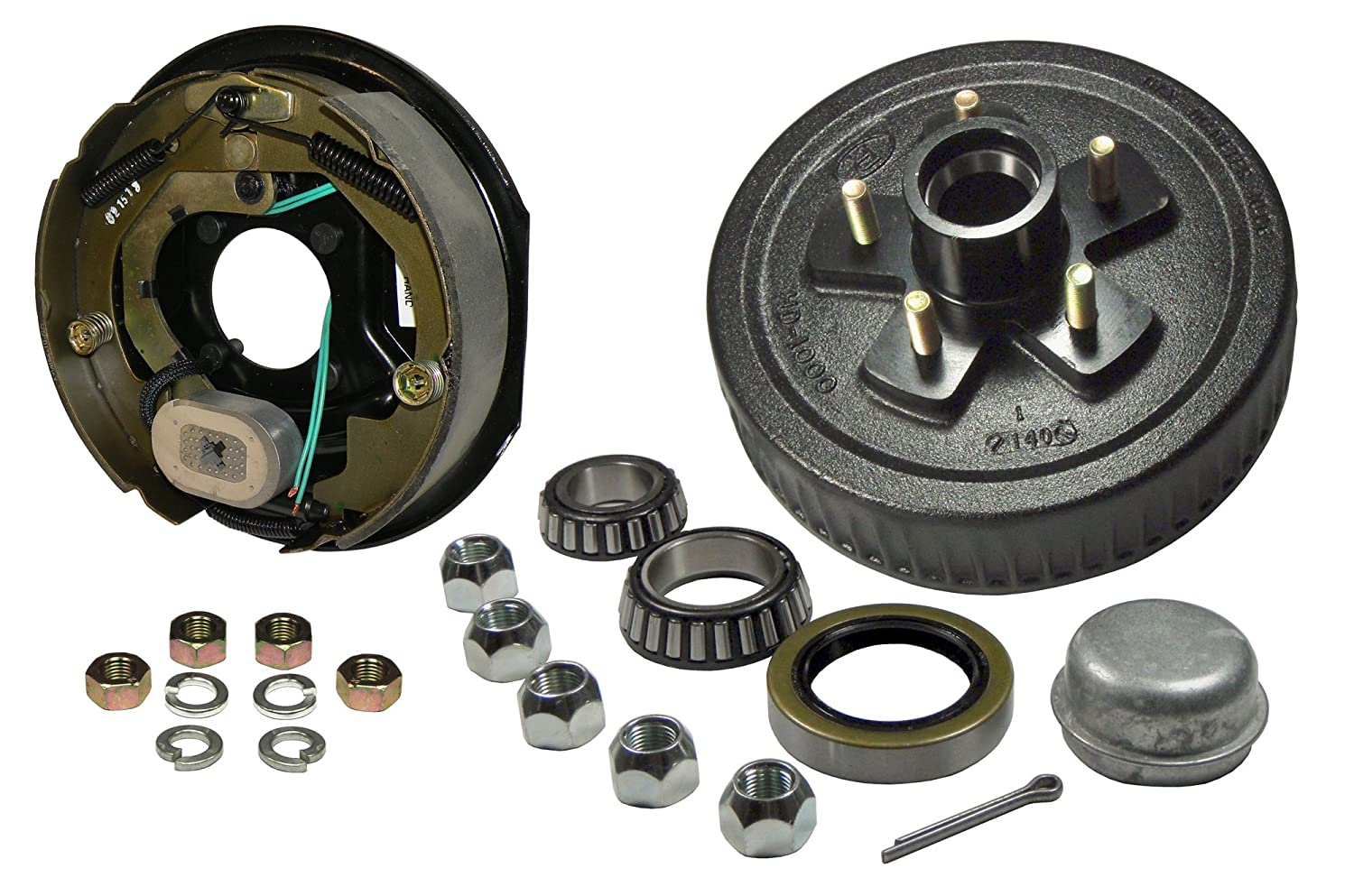5-Bolt on 4-1/2 Inch Bolt Circle - 10 Inch Hub/Drum With Electric Brake Assembly - Drivers Side Rigid Hitch