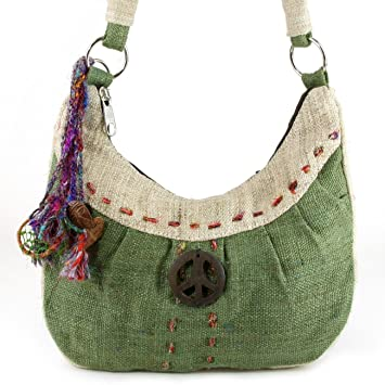 1242ef831f65 Amazon.com   Earth Divas NHB-120-OC Hemp Handbag With Organic Cotton Lining    Cosmetic Bags   Beauty