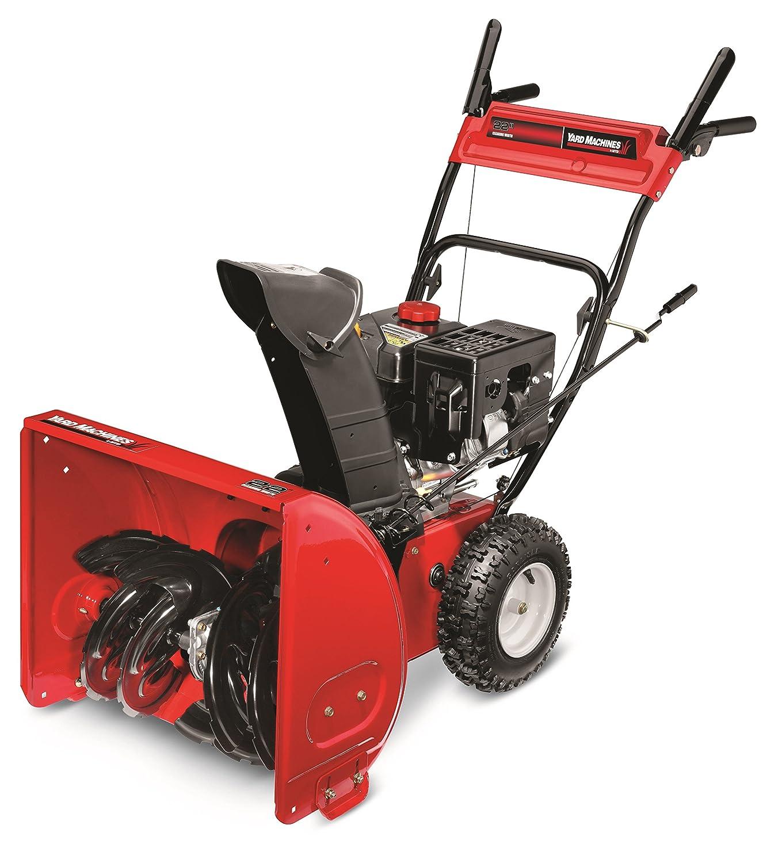 Amazon.com : Yard Machines 208cc 22-Inch Two-Stage Gas Snow Thrower : Snow  Blower : Garden & Outdoor
