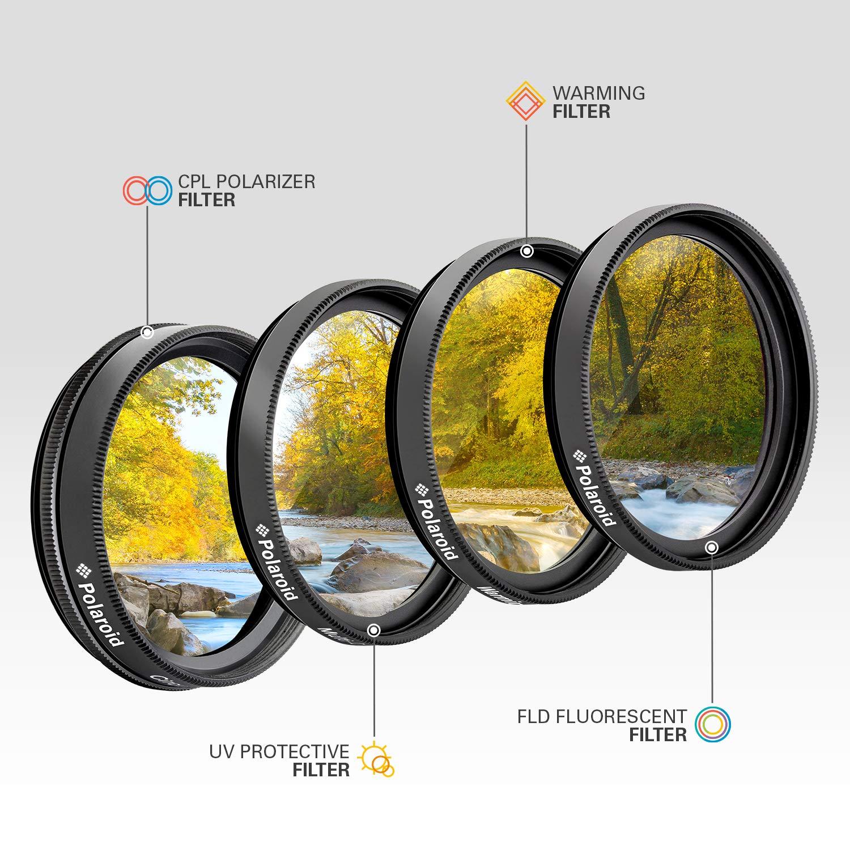 Polaroid Optics juego de filtros de 77 mm de 4 piezas (UV, CPL, FLD, WARMING): Amazon.es: Electrónica