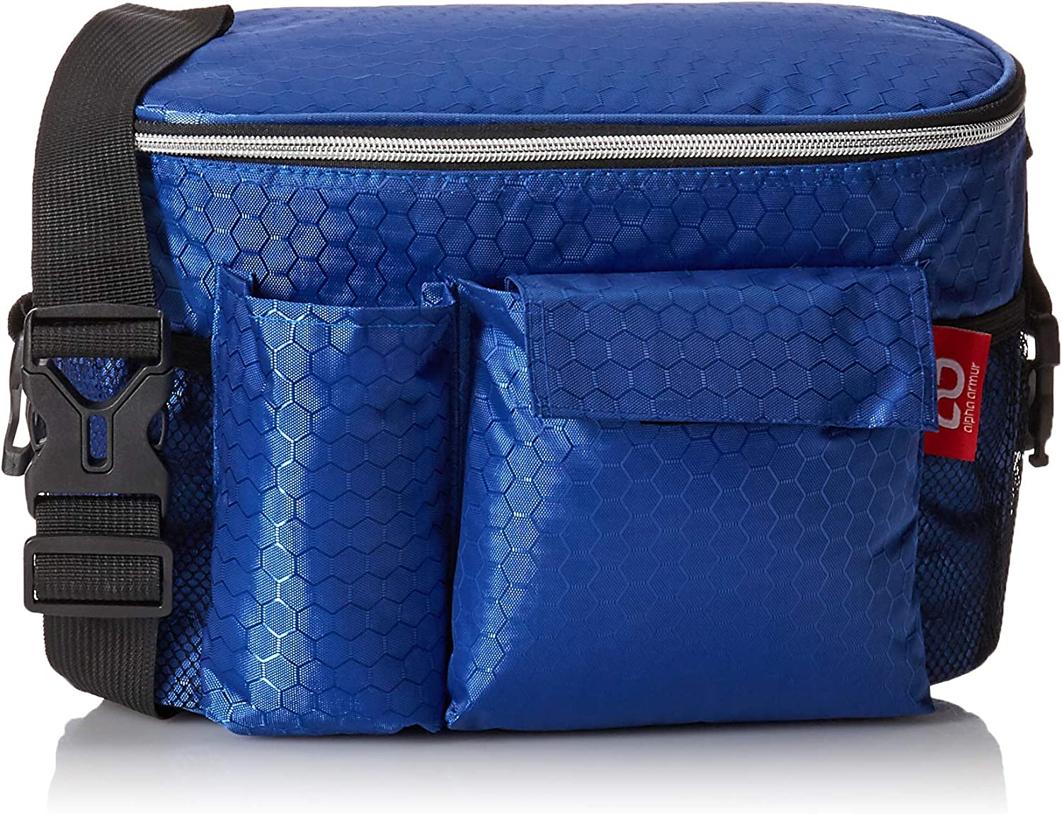 Alpha Armur Shoulder Lunch Bag 12 Cans Camping Outdoor Insulated, Blue