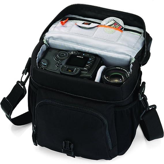 Lowepro Nova 170 AW - Bolso Bandolera para cámaras réflex, Negro ...