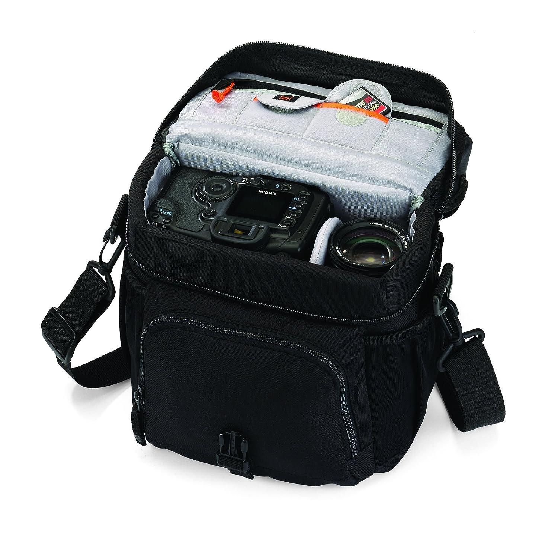 Lowepro Nova 170 AW - Bolso bandolera para cámaras réflex, negro: Lowepro: Amazon.es: Electrónica