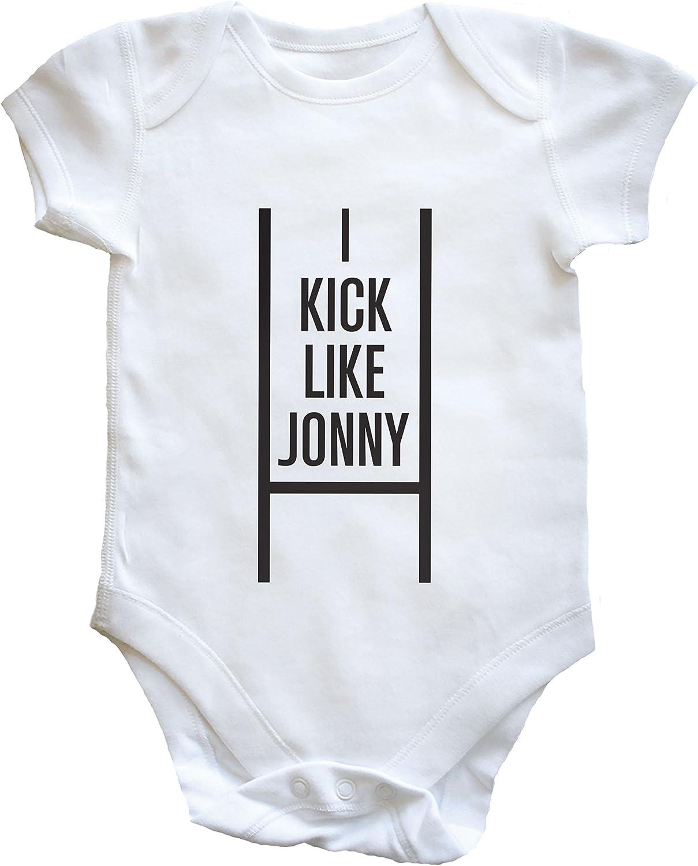 Hippowarehouse I Kick Like Jonny Baby Vest Boys Girls