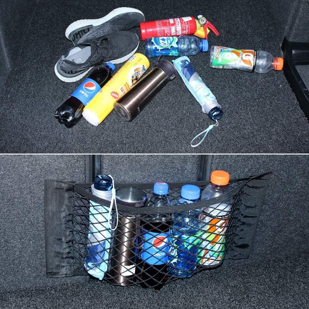 Color Name : 40 x 25cm 1pc Organizer per seggiolino auto Maletero del coche de equipajes neto Borsa da viaggio per auto