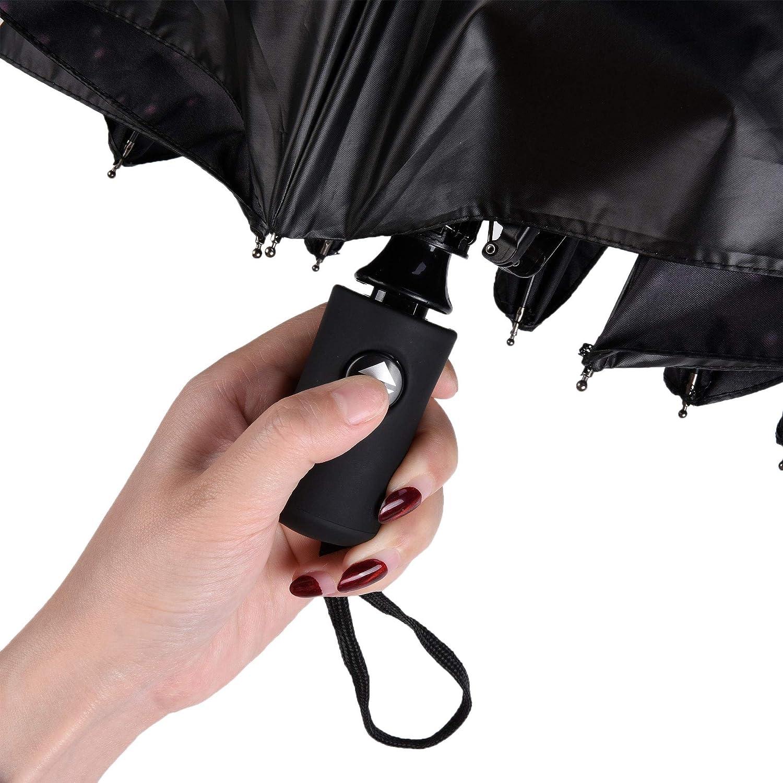 Starry SKY Beautyflier Windproof Travel Umbrella Auto Close//Open UV Protect Sun Anti-UV Coating Parasol Rain Umbrella
